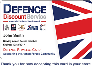Defence Discount Service card