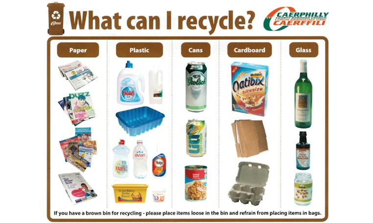 Caerphilly tackling incorrect items in household recycling for How can i recycle things at home