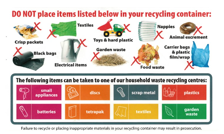 Caerphilly - Tackling incorrect items in household recycling
