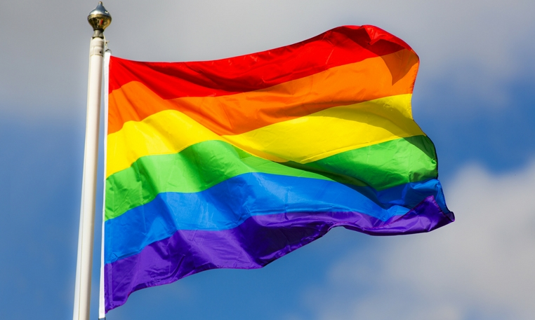 Caerphilly Council proudly flies the rainbow flag for Pride Month